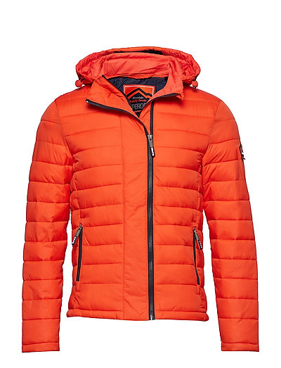 NEW FUJI DOUBLE ZIP HOOD - DEEP ORANGE