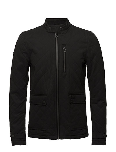 CITY MICROFIBRE QUILT JACKET - BLACK