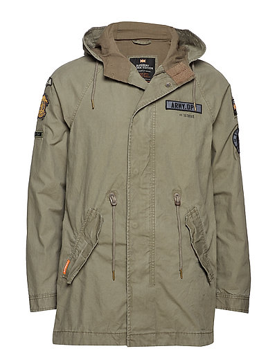 ROOKIE AVIATOR PATCHED PARKA - AGED OLIVE