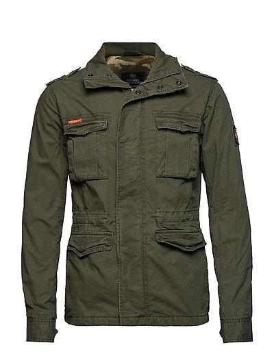 Classic Rookie Military Jacket Dünne Jacke Grün SUPERDRY