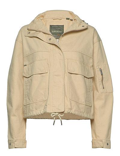 Bora Cropped Jacket Outerwear Jackets Utility Jackets Beige SUPERDRY