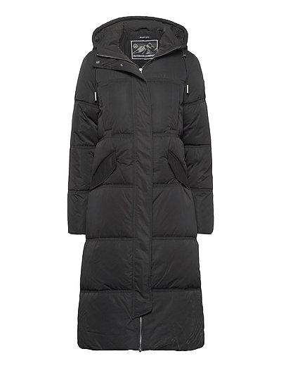 Microfibre Duvet Coat Gefütterter Mantel Schwarz SUPERDRY | SUPERDRY SALE