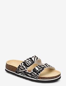 FUSSBETTPANTOFFEL - sandals - schwarz