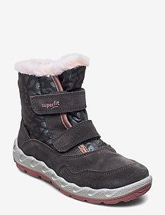 ICEBIRD - vinter boots - grau/rosa