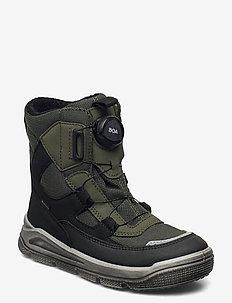 MARS - vinter boots - schwarz/grÜn