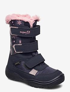 CRYSTAL - vinter boots - blau/rosa