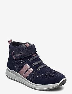 MERIDA HS - vinter boots - blau/lila