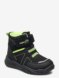 GLACIER - vinter boots - schwarz/gelb