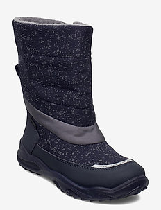 GLACIER - vinter boots - blau/grau