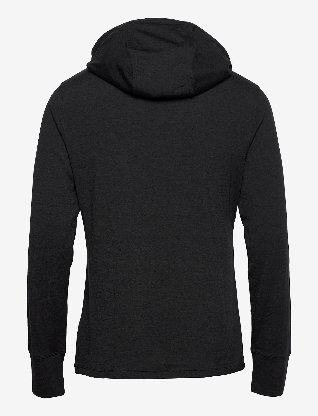 super.natural - M ALPINE HOODED - fleece - jet black melange/vapor grey logo - 1