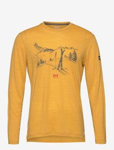 M EARN YOUR TURN LS - bluzki z długim rękawem - mustard melange/olive night/high risk red