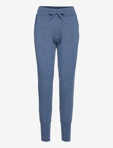 W ESSENTIAL CUFFED PANT - spodnie treningowe - dark denim melange