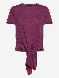 W KNOT TEE - t-shirty - amaranth melange