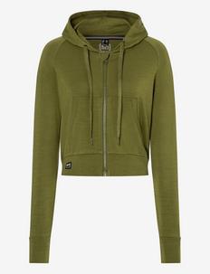 W LIQUID FLOW HOODIE - hoodies - avocado