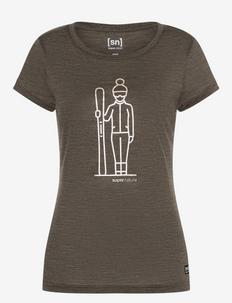 W SKIEUSE TEE - t-shirts - wren melange/gold