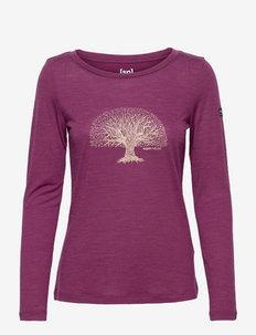 W YOGA TREE LS - hauts à manches longues - amaranth melange/gold