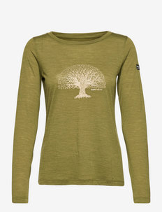 W YOGA TREE LS - maillot de corps thermique - avocado melange/gold