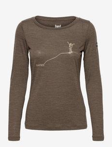 W SUMMITEER LS - bluzki termoaktywne - wren melange/gold
