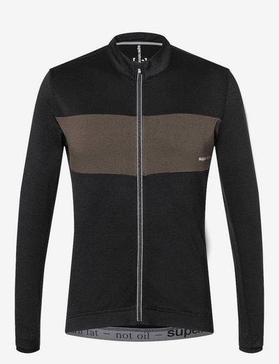 M GRAVIER LS JERSEY - sweaters - jet black/wren