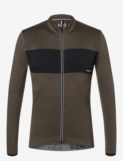 M GRAVIER LS JERSEY - sweaters - wren/jet black