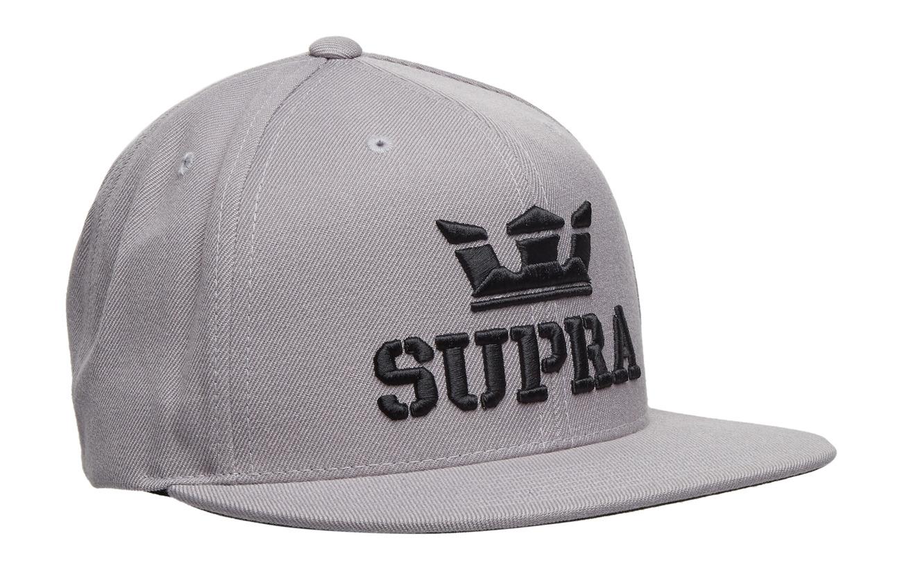 Supra ABOVE SNAP HAT - SILVER / BLACK