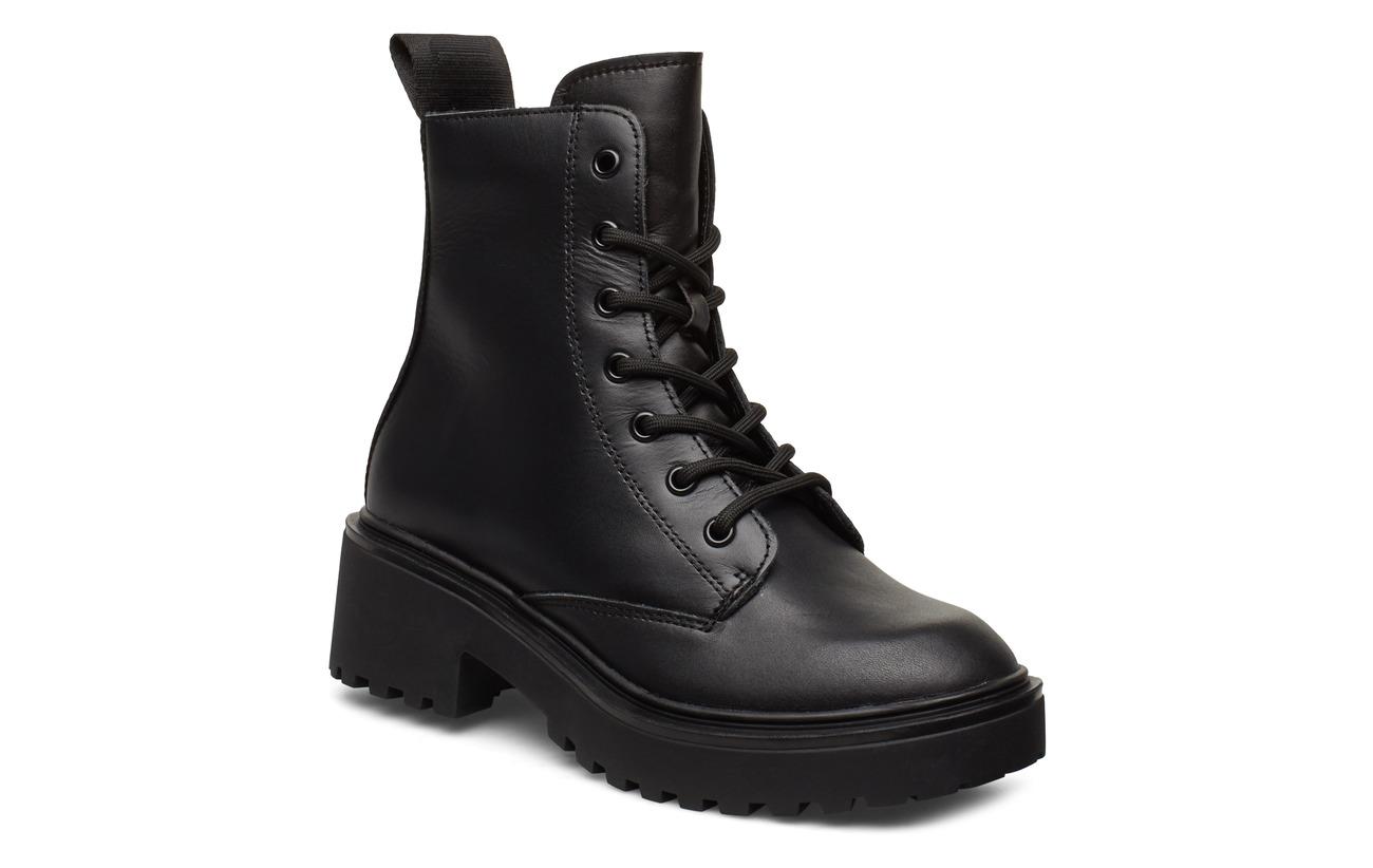 Svea Leather Boot - BLACK