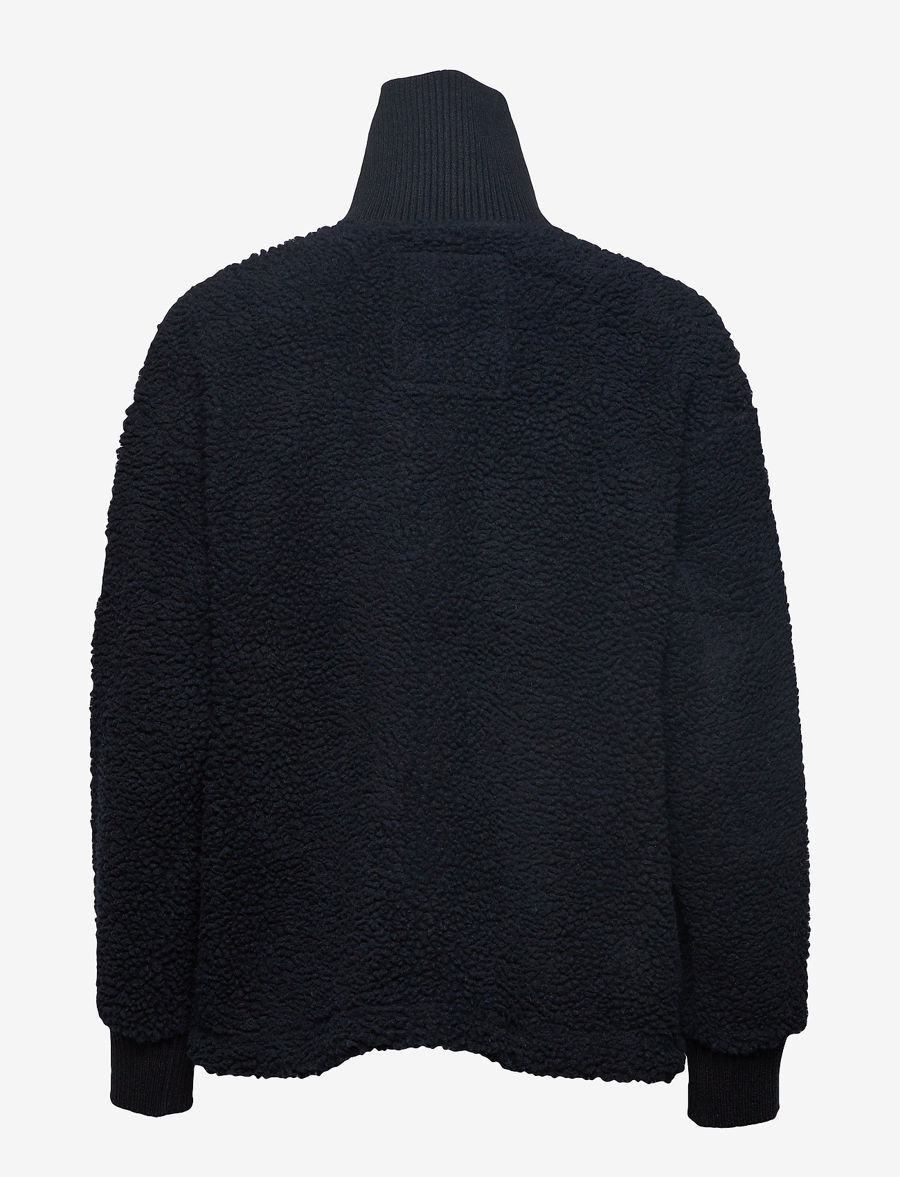 Svea - Kathryn Pile Zip Sweater - sweatshirts - dark navy