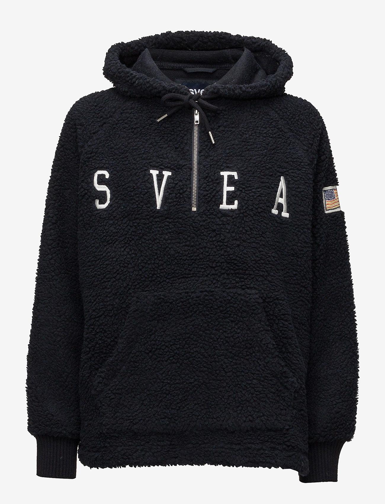 Svea - Ophelia Pile Hood - hoodies - dark navy - 0