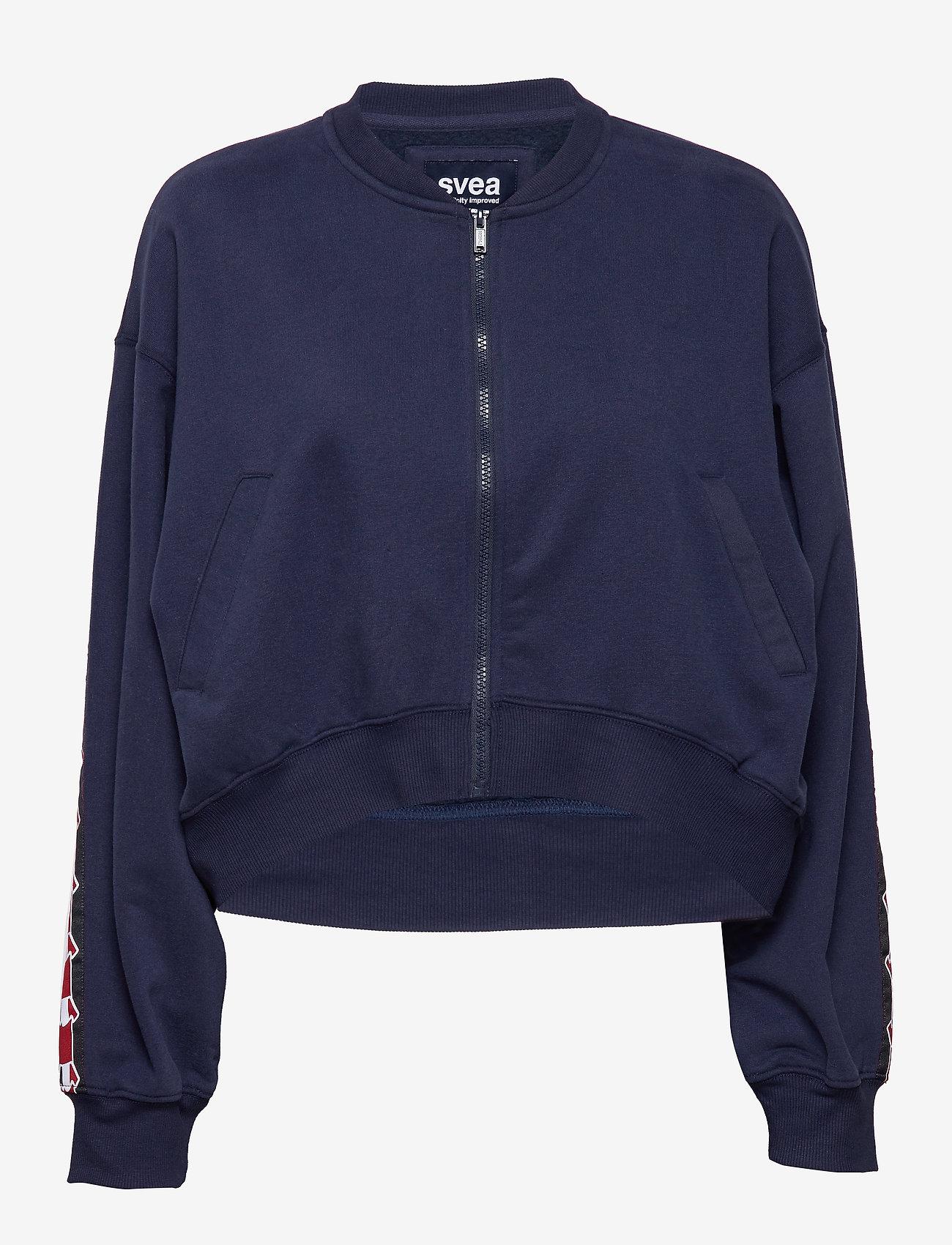 Svea - Violet Zip Sweat - bomber jakker - blue - 0