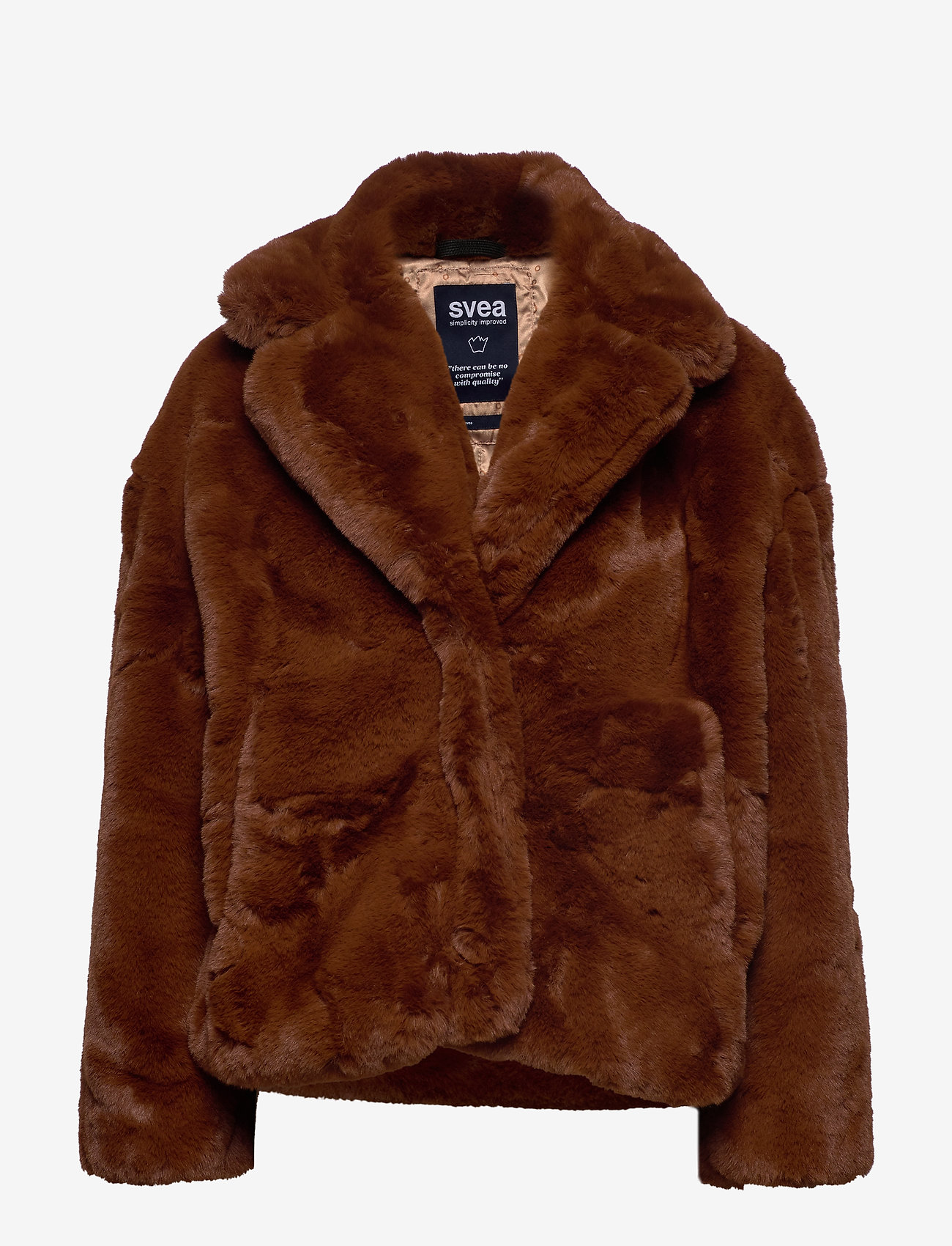 Svea - Kennedy Jacket - faux fur - brown - 0