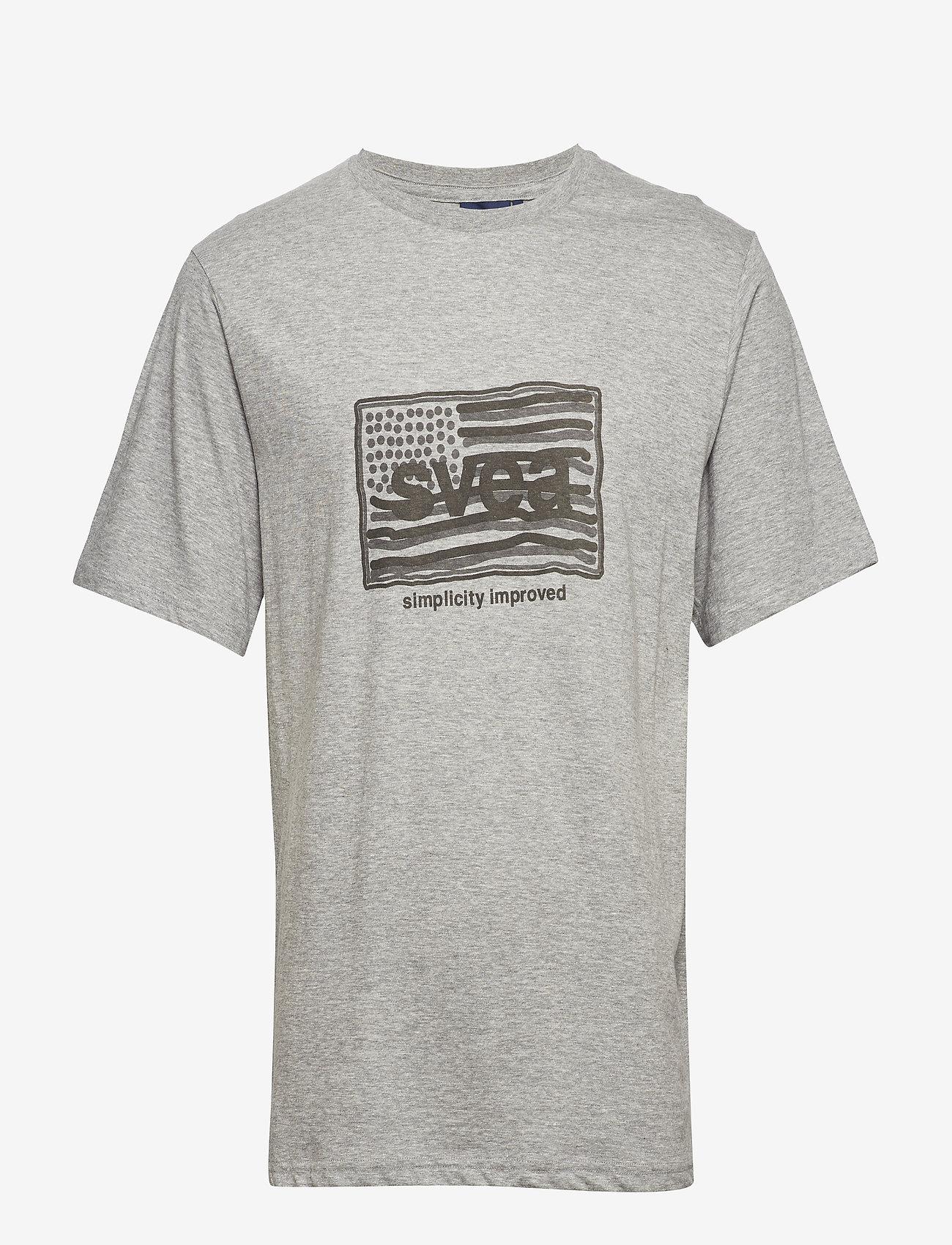 Svea - Flag T-shirt - t-shirts imprimés - grey melange