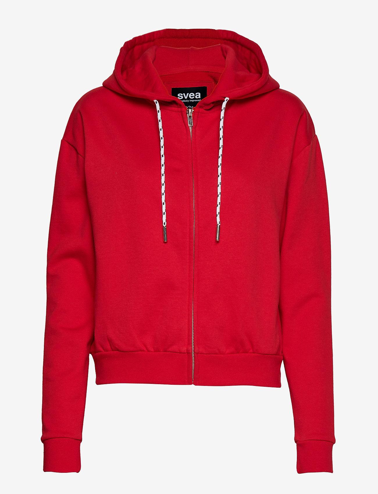 Svea - Malaga Zip Hood - bluzy z kapturem - bright red - 0