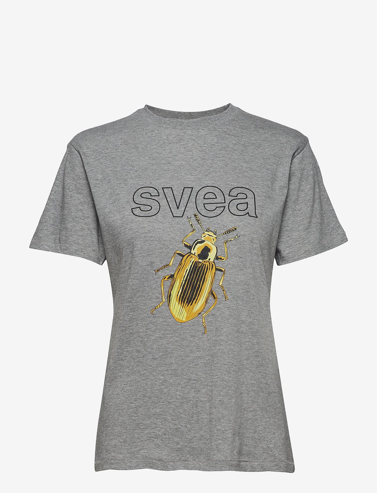 Svea - Insect Tee - t-shirts - grey melange
