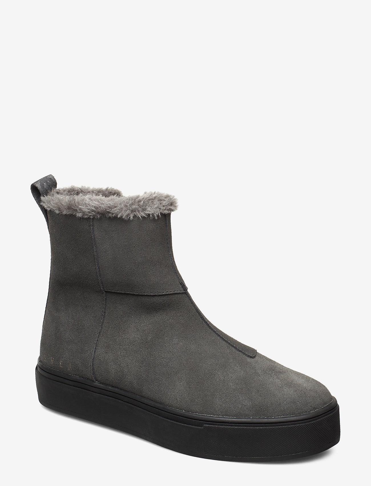 Svea - Suede / Pile Boots - flat ankle boots - grey - 0