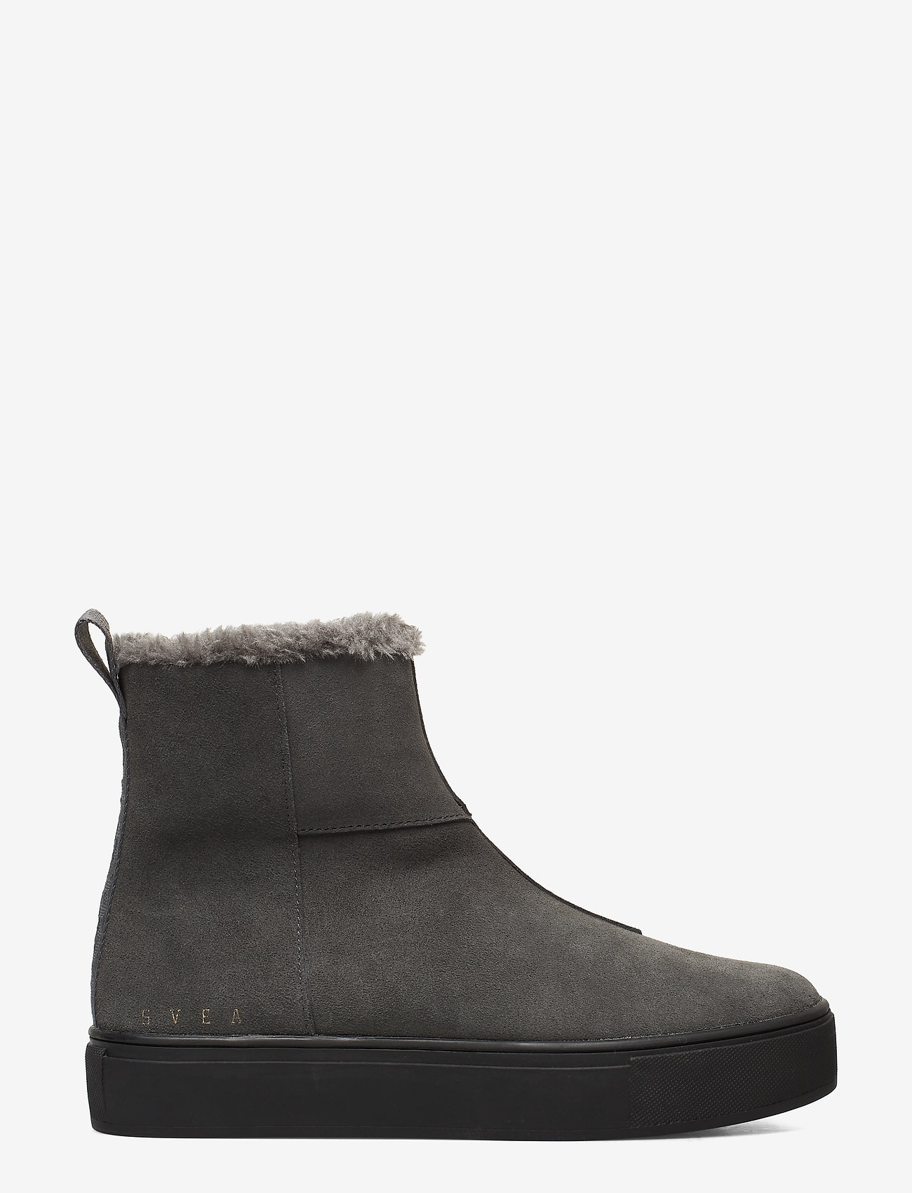 Svea - Suede / Pile Boots - flat ankle boots - grey - 1