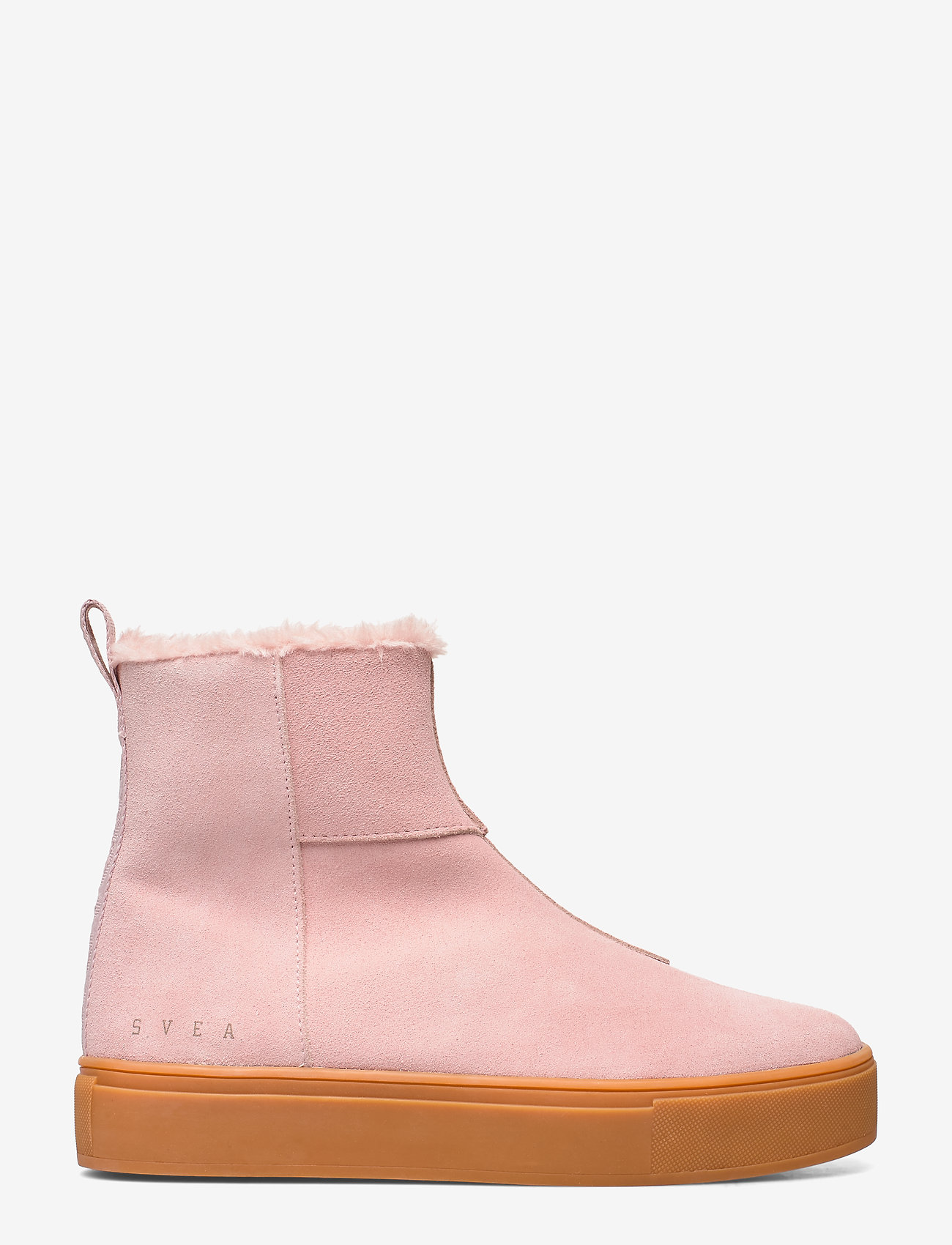 Svea - Suede / Pile Boots - flat ankle boots - soft pink - 1