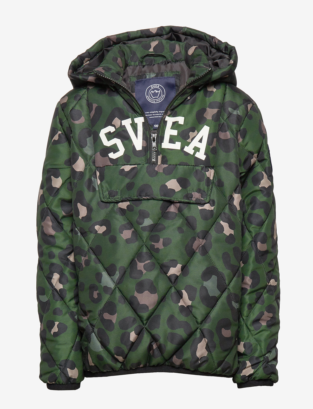 Svea - K. Quilted Anorak Hood Jacket - puffer & padded - green leo - 0