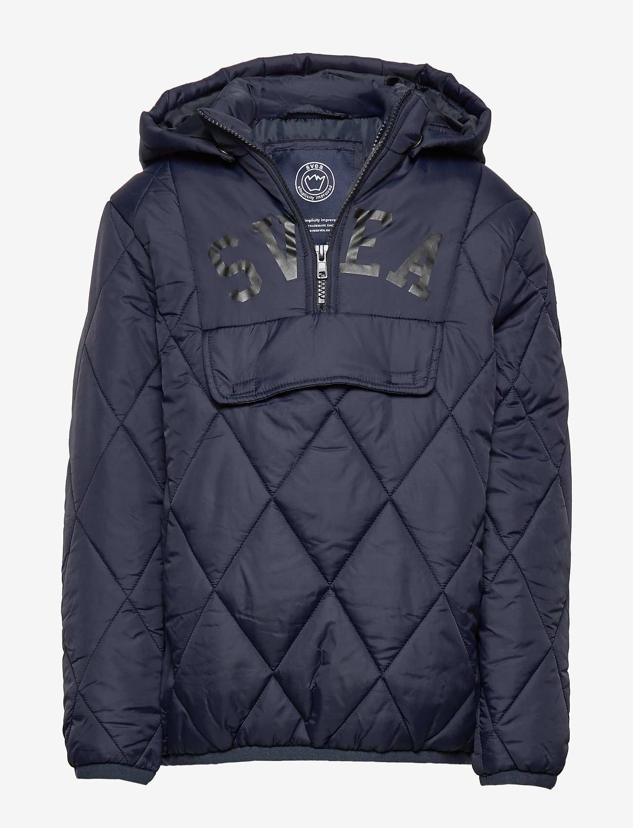 Svea - K. Quilted Anorak Hood Jacket - dunjakker & forede jakker - navy - 0