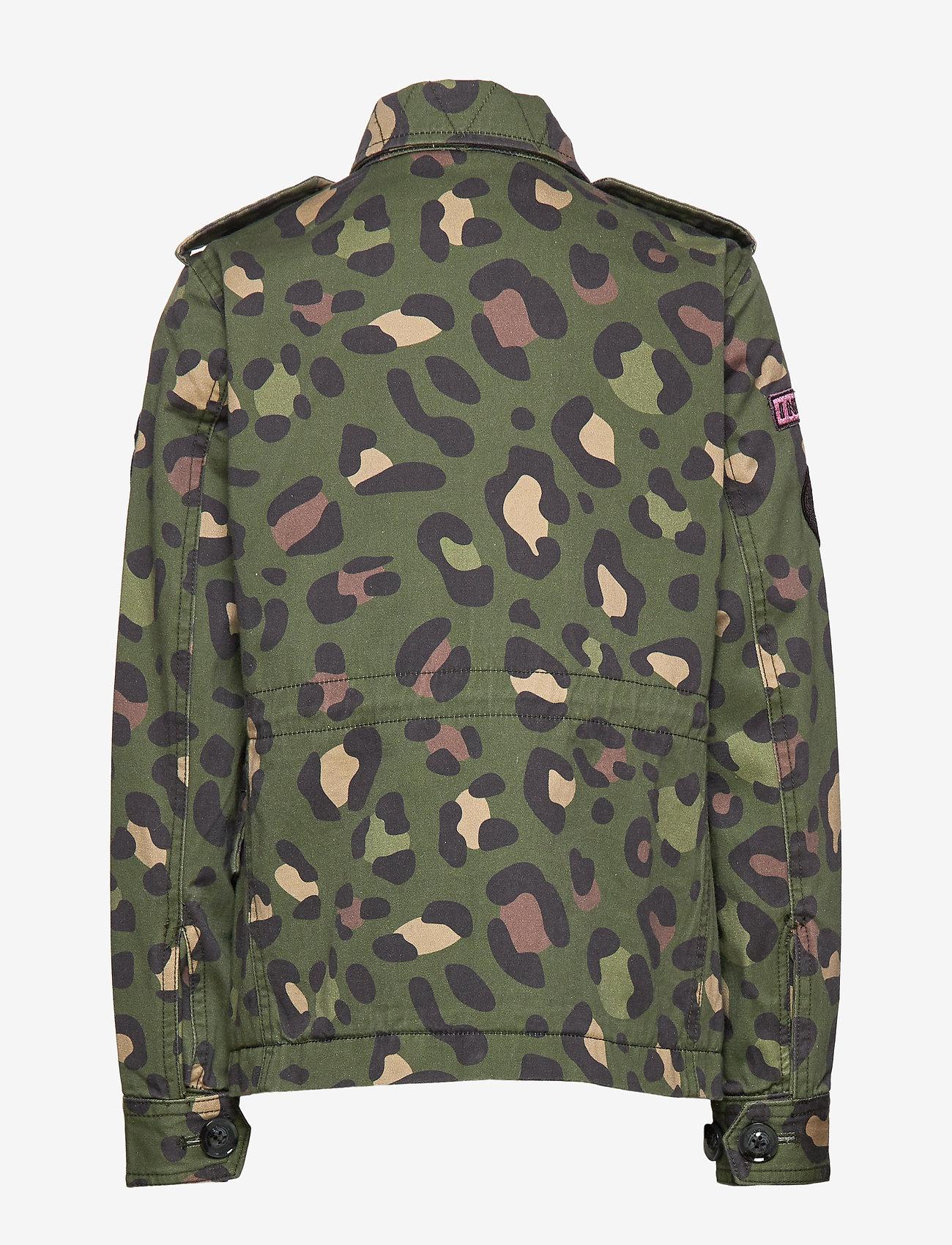 Svea - K. Army Jacket - denimjakker - green leo - 1
