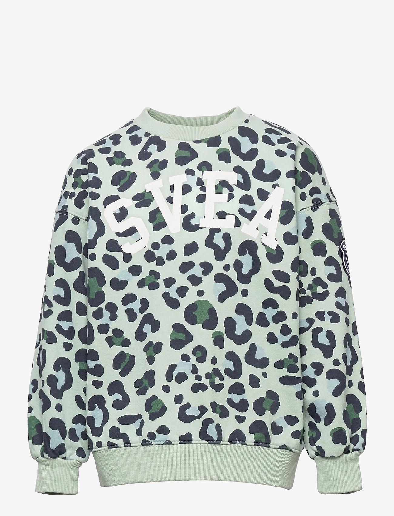Svea - K. Leo Crew Sweat - sweatshirts - minty leo - 0