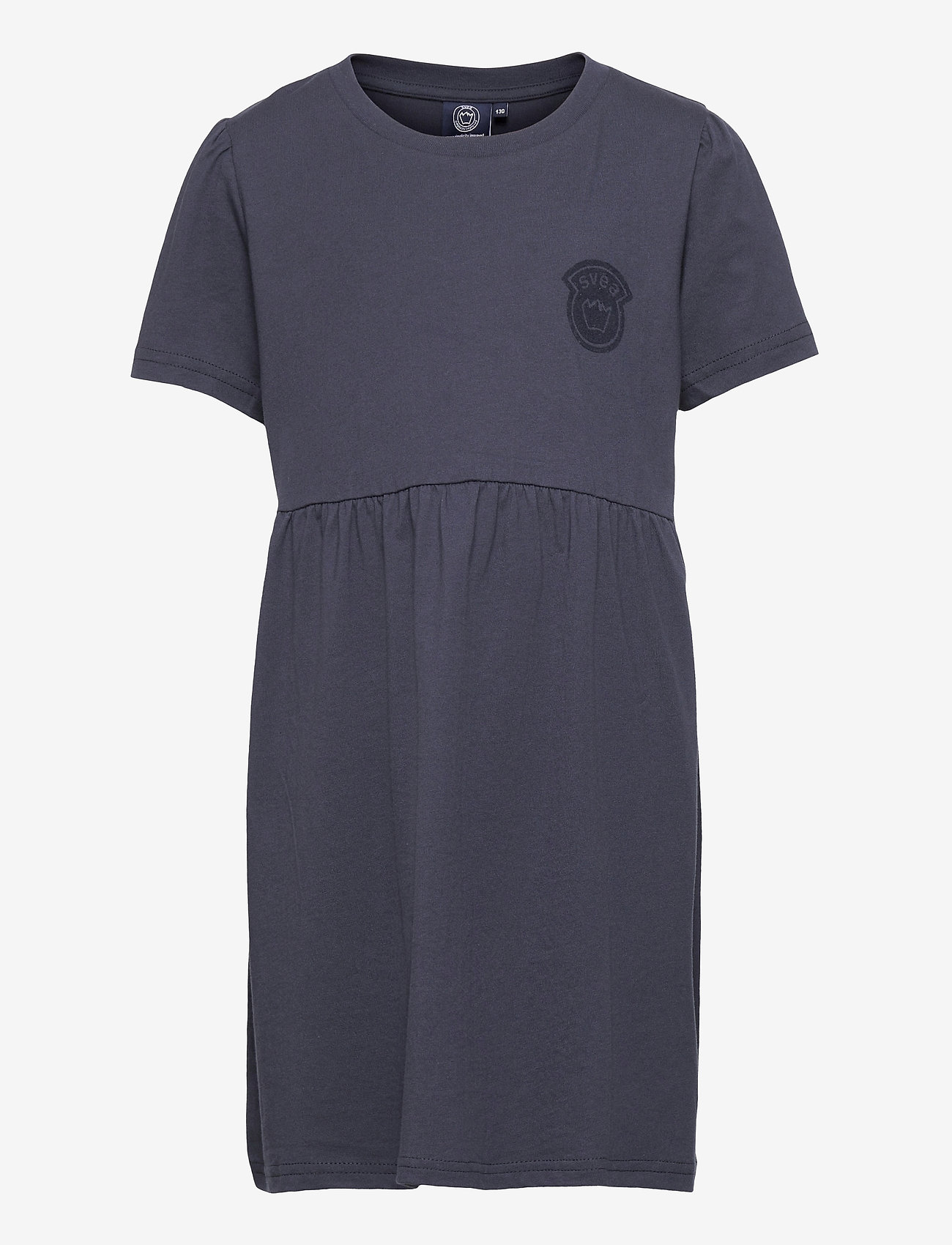 Svea - K. T-shirt Frill Dress - kleider - navy - 0