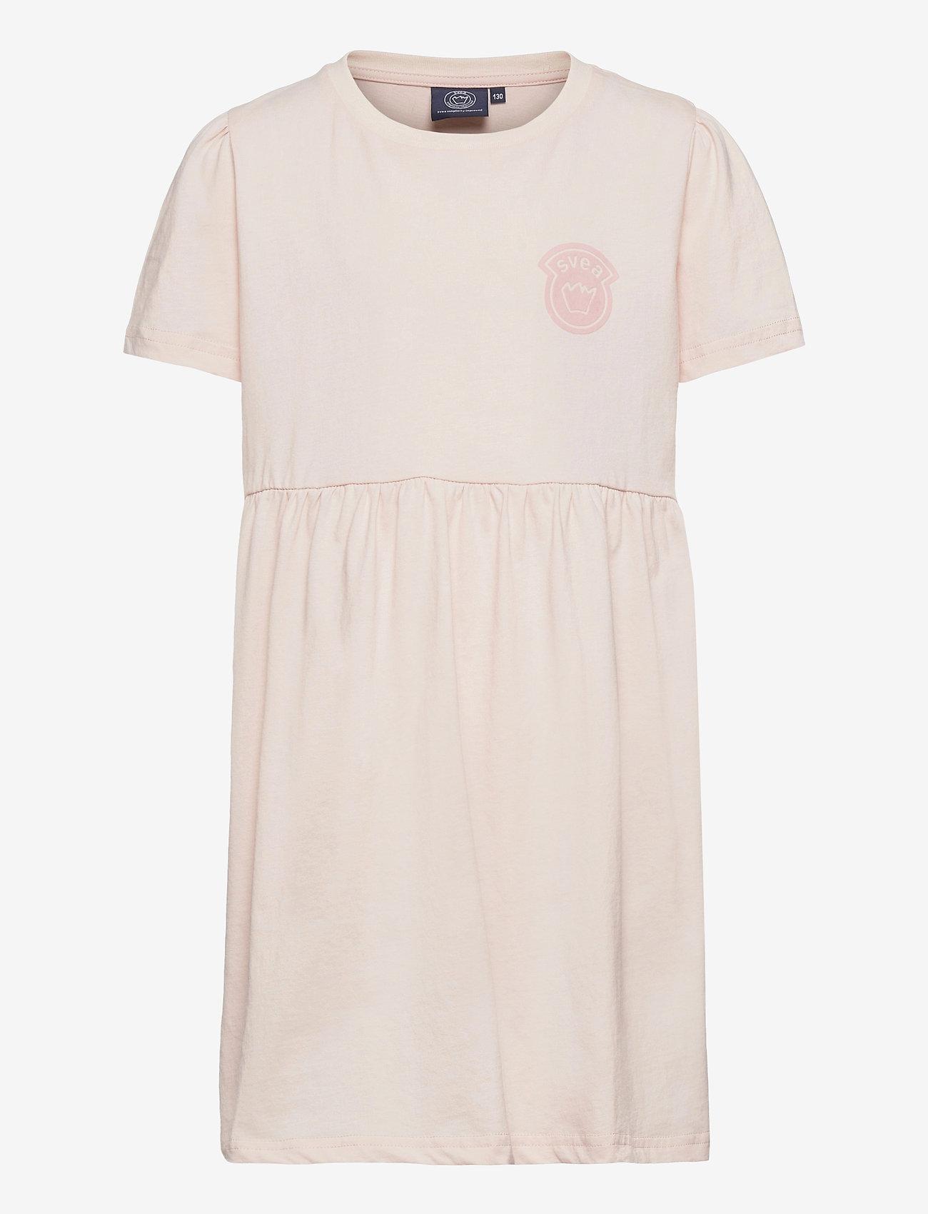 Svea - K. T-shirt Frill Dress - kleider - nude - 0