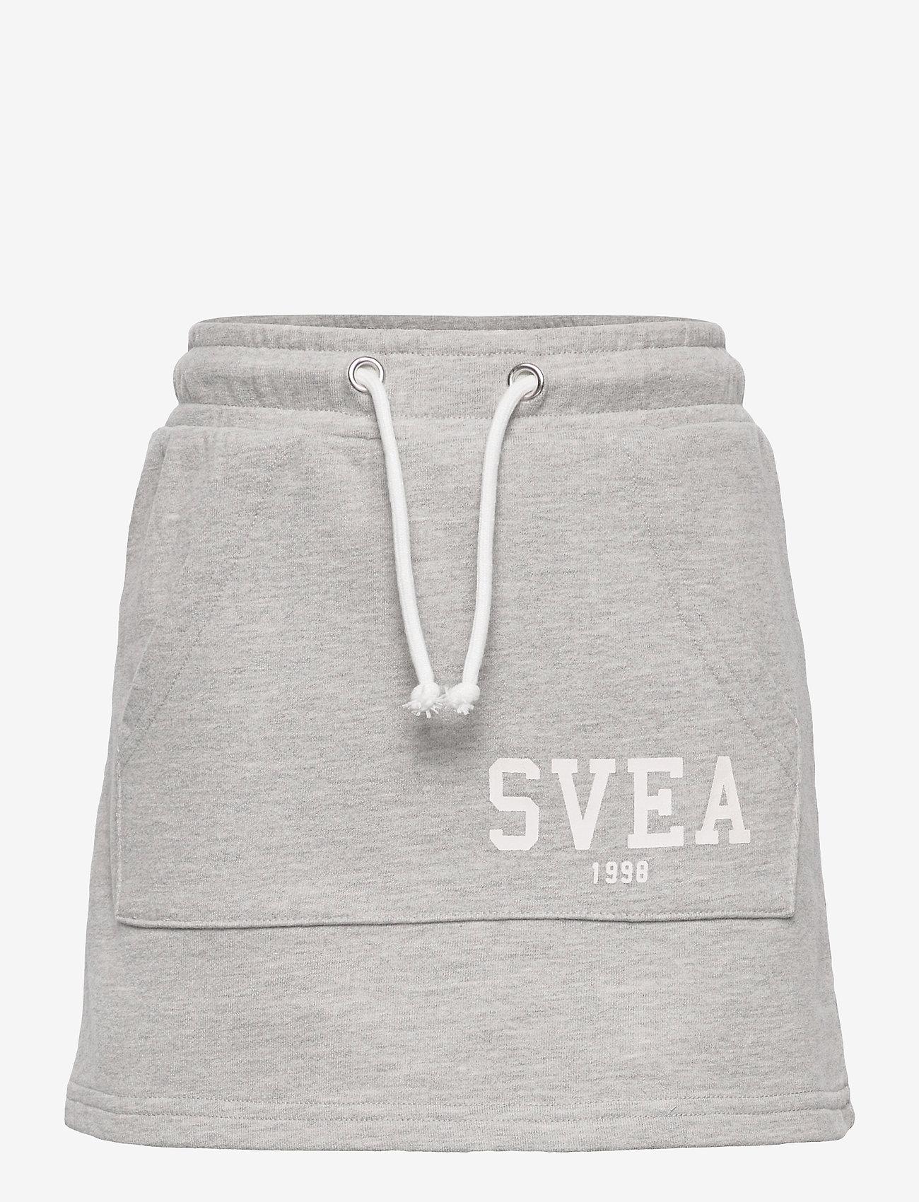 Svea - K. Girly Sweat Skirt - röcke - grey melange - 0