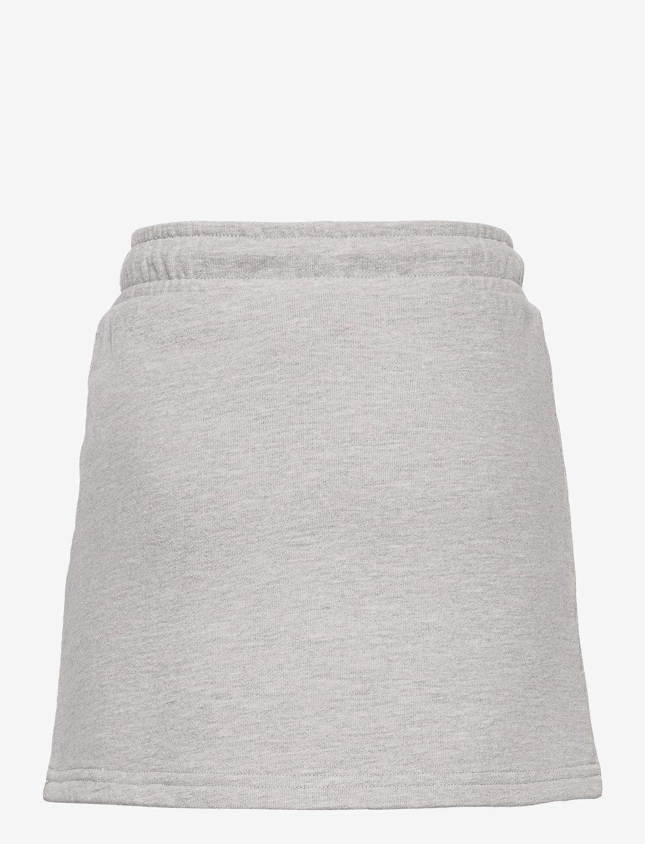 Svea - K. Girly Sweat Skirt - röcke - grey melange - 1