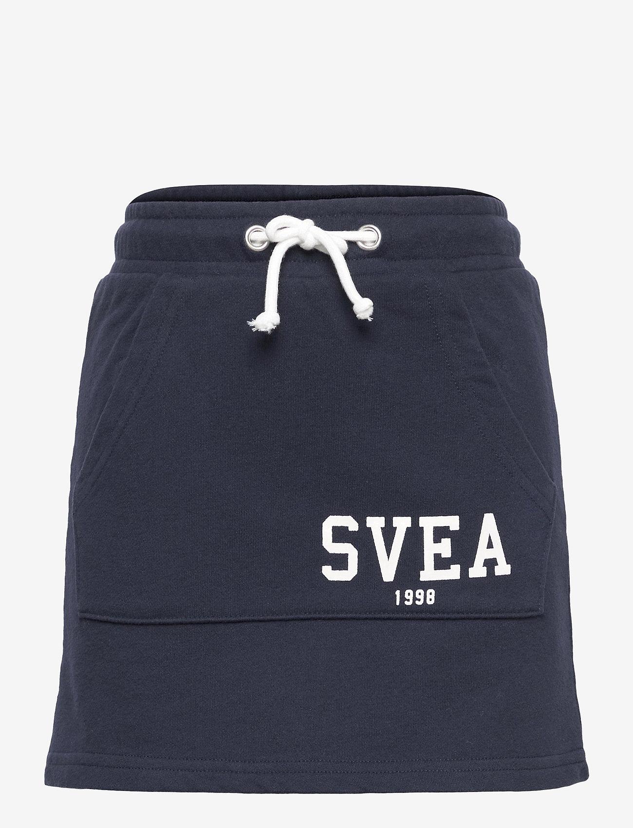 Svea - K. Girly Sweat Skirt - röcke - navy - 0