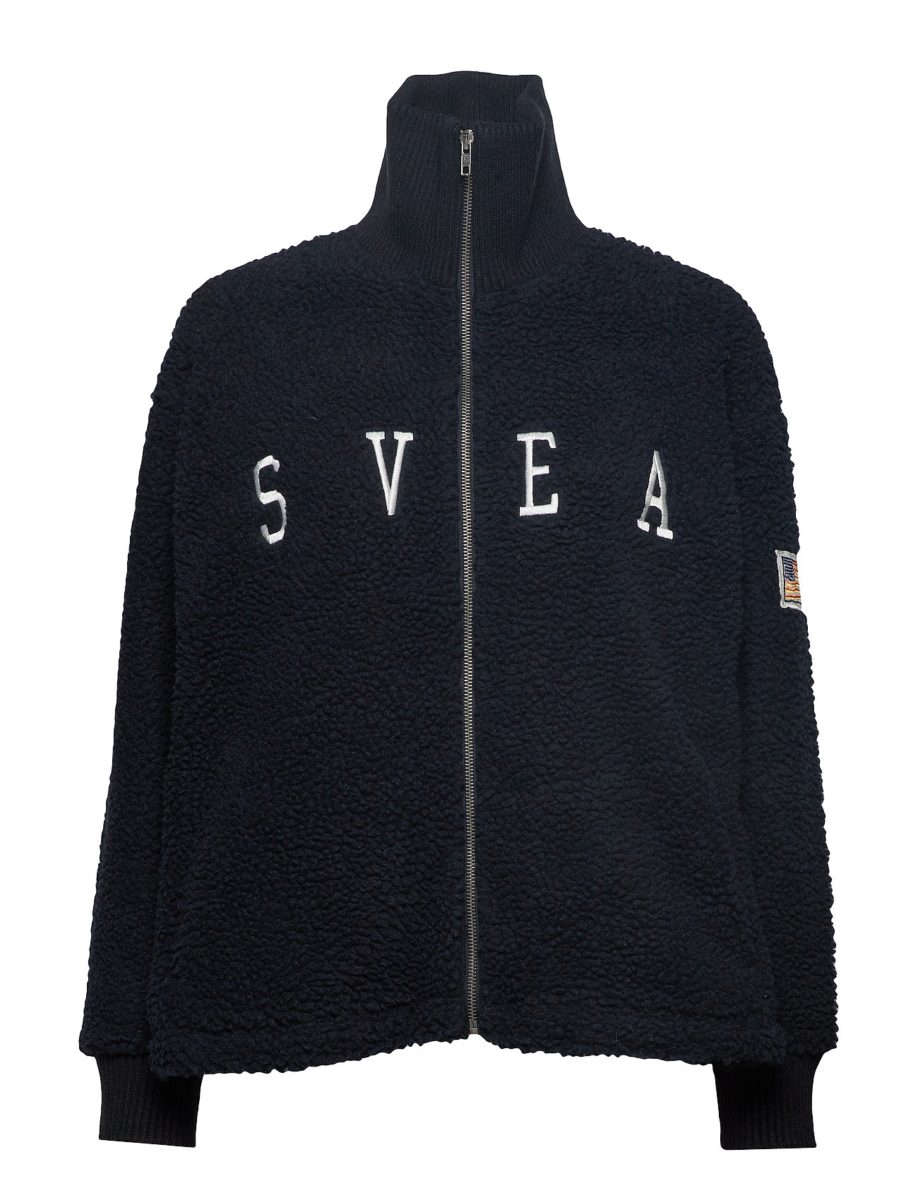 Svea Kathryn Pile Zip Sweater - DARK NAVY
