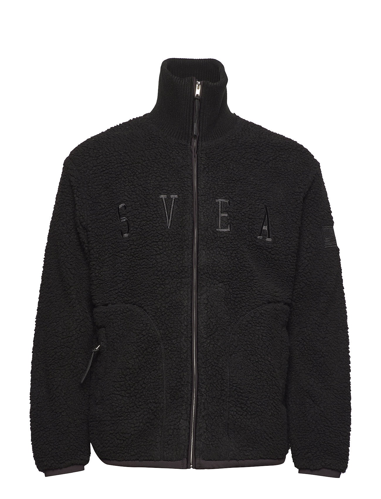 Svea Maison Pile Zip Sweater - GREY MELANGE