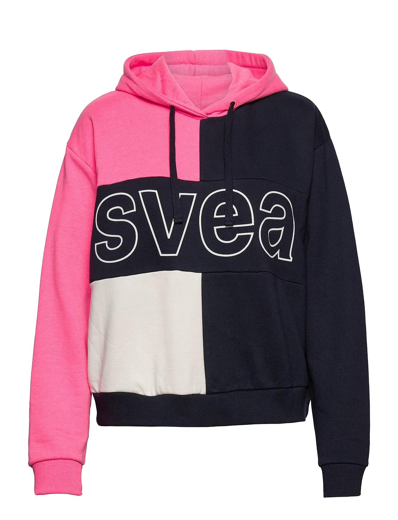 Image of Svea Colorblock Hood Hoodie Trøje Lyserød Svea (3440210047)