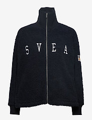 Svea - Kathryn Pile Zip Sweater - sweatshirts - dark navy - 0