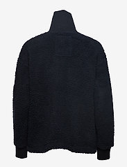 Svea - Kathryn Pile Zip Sweater - sweatshirts - dark navy - 1